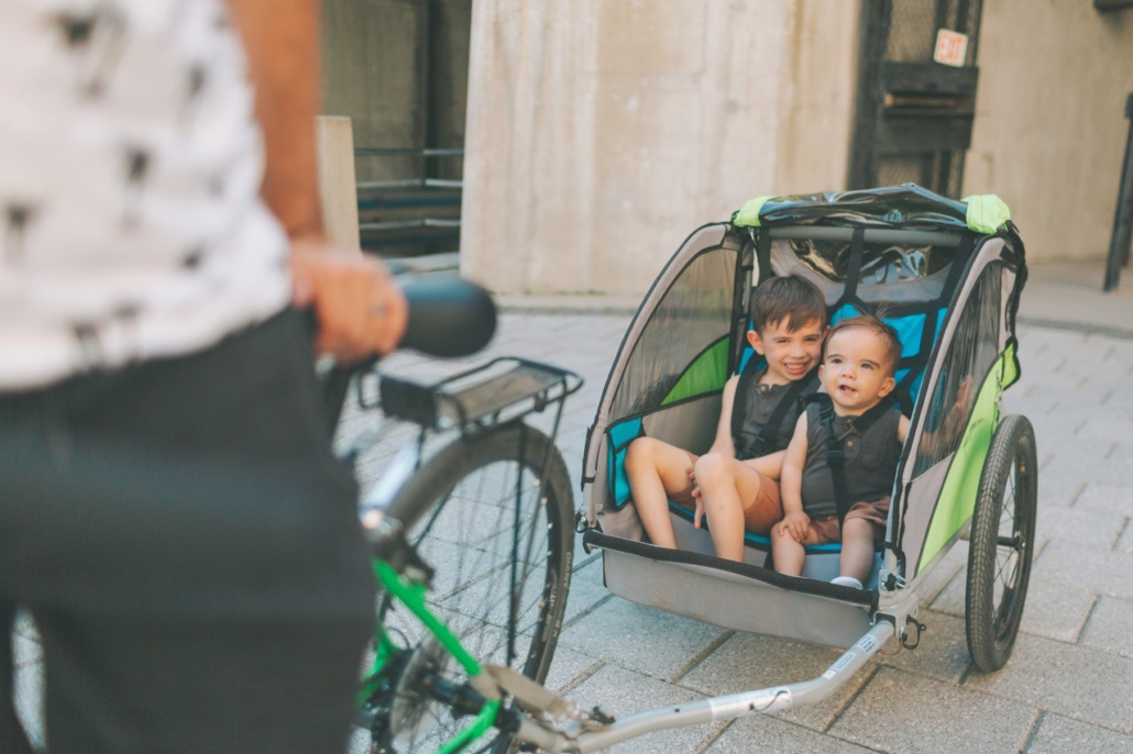 Kinder sicher mit dem Rad transportieren